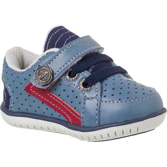 67fe642a7d1 Sapato Bebê Masculino Klin Cravinho Casual Furinhos - Azul - Compre ...