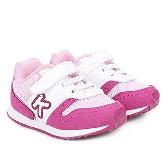 54332c39d96 Tênis Infantil Klin Velcro Mini Walk Menina