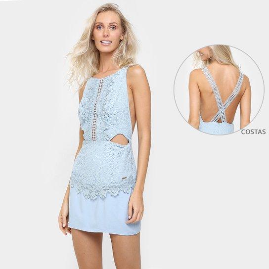 58ac69d77 Vestido Colcci Renda Recorte Costa e Cintura - Azul Claro | Zattini