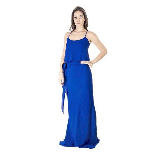 0e58398ad VESTIDO LONGO BÁSICO CALVIN KLEIN - Azul - Compre Agora