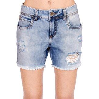 ce256f3b7 Bermuda Jeans Destroyed Colcci Feminino