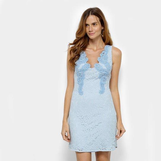 7a86b0de2 Vestido Colcci Tubinho Curto Renda - Azul - Compre Agora