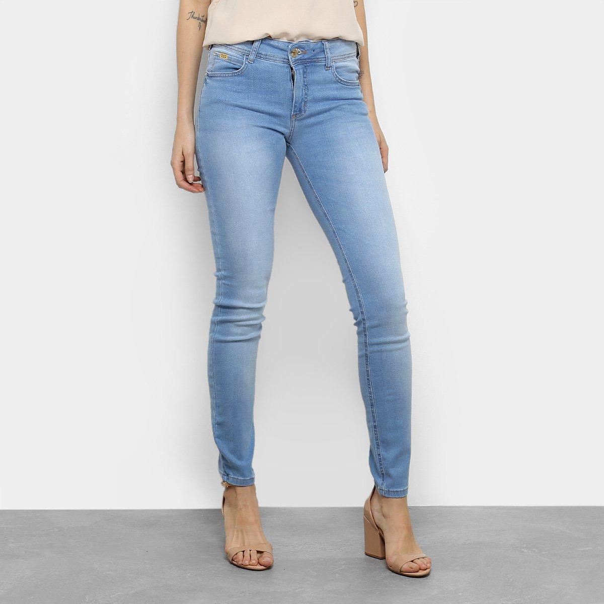 Calça Jeans Skinny Colcci Fátima Cintura Média Feminina dfbab6811af