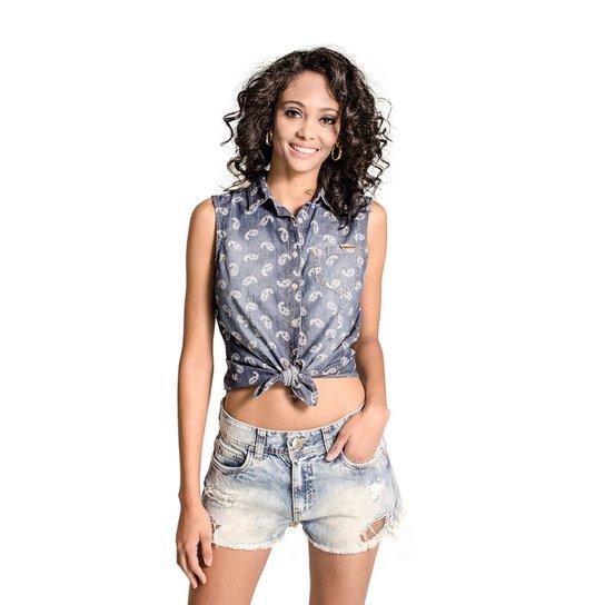 1d0cd4b84 Camisa Regata Jeans Colcci - Azul - Compre Agora | Zattini