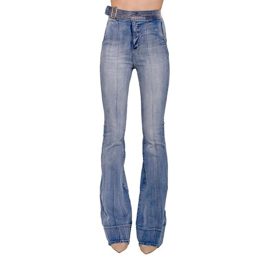 00aa013aa Calça Jeans Flare Karen Colcci - Azul | Zattini