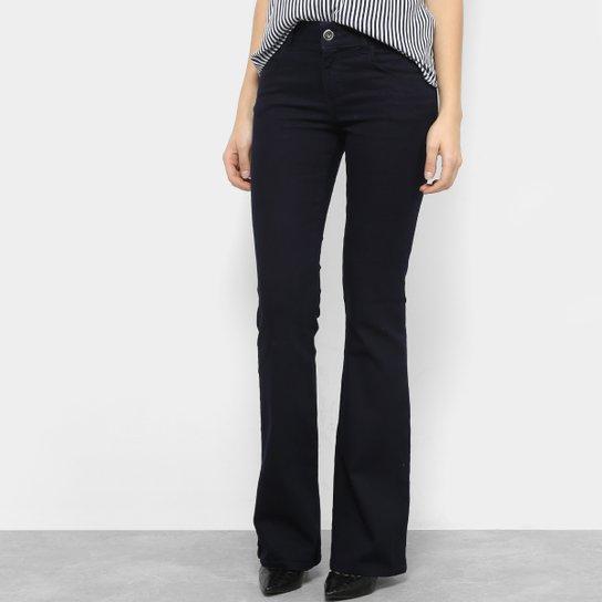 Calça Jeans Flare Colcci Fátima Básica Cintura Média Feminina - Azul Escuro 227a74671d1