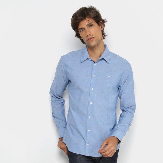 Camisa Colcci Manga Longa Slim Mesclada Masculina - Azul - Compre ... a10c90bb121