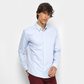 a0b3eb2471 Camisa Colcci Slim Manga Longa Masculina