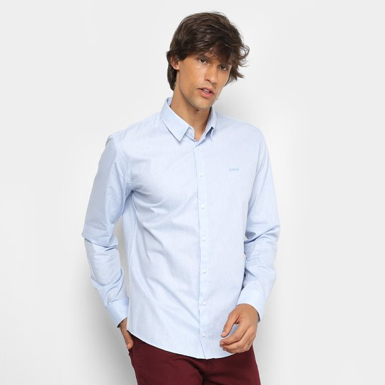 Camisa Colcci Slim Manga Longa Masculina - Azul - Compre Agora  3f8b0898992