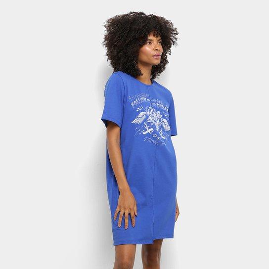 01227d2e8 Vestido Colcci Assimétrico Feminino - Azul   Zattini