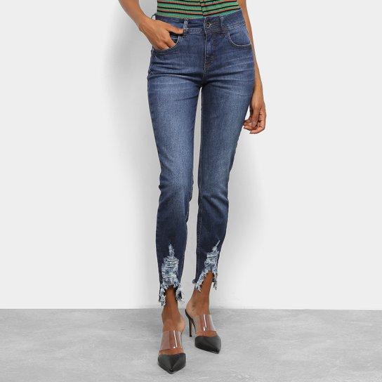 ab644c1db9 Calça Jeans Colcci Cory Destroyed Skinny Feminina - Azul - Compre ...