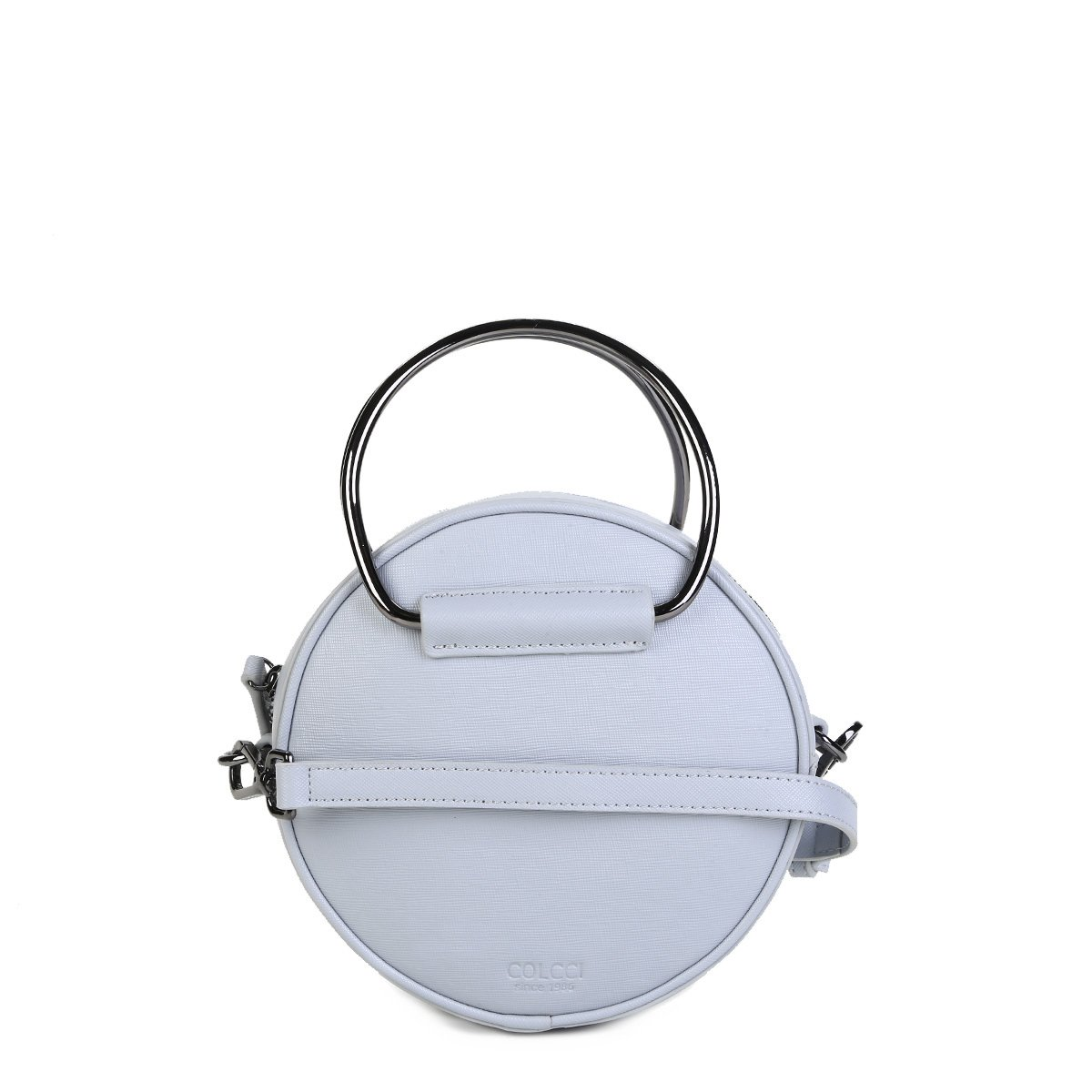 4cb85c6d4 Bolsa Redonda Colcci Mini Bag Detalhe Argola Alça Transversal Feminina