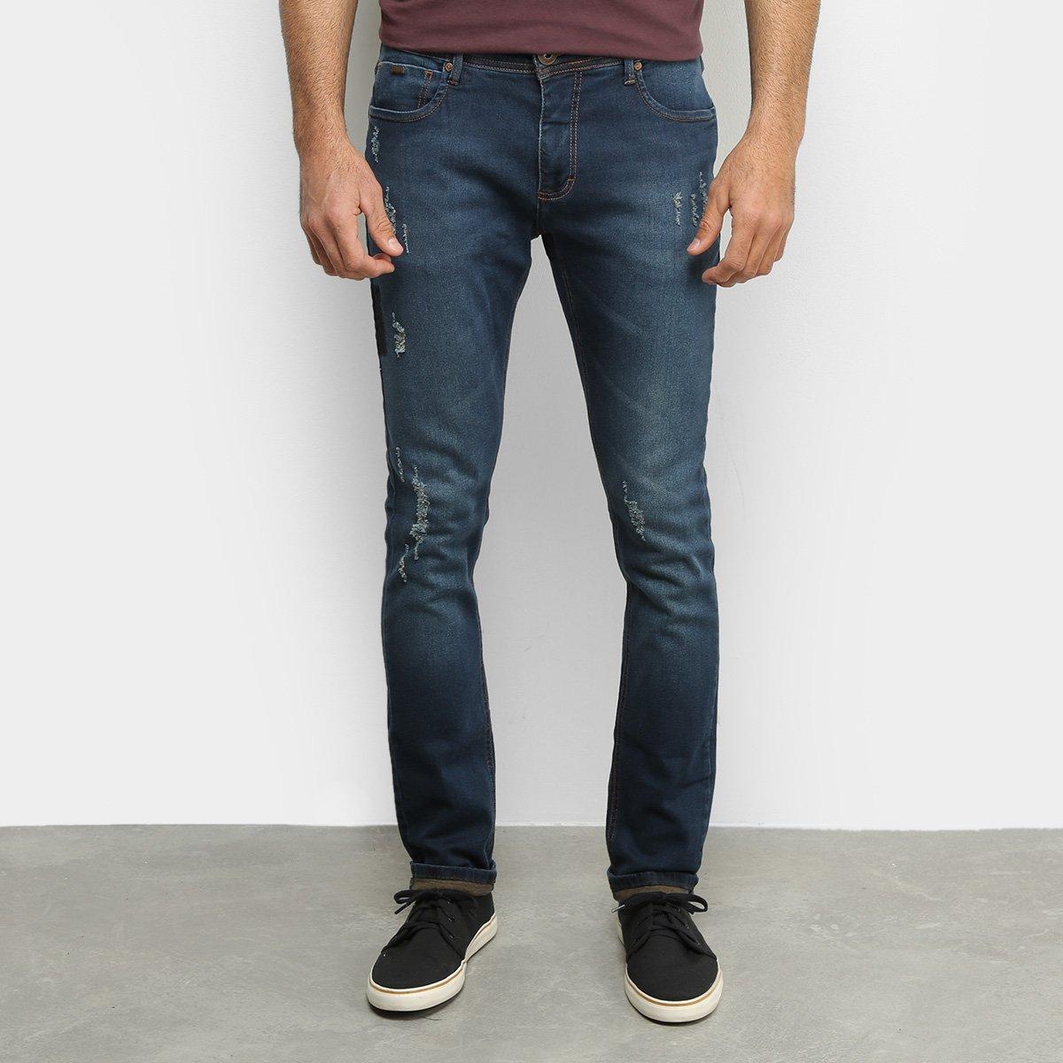Calça Jeans Forum Skinny Destroyed Masculina