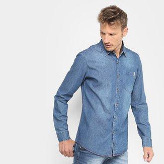191b1dcd96 Camisa Jeans Broken Rules Bolso Masculina