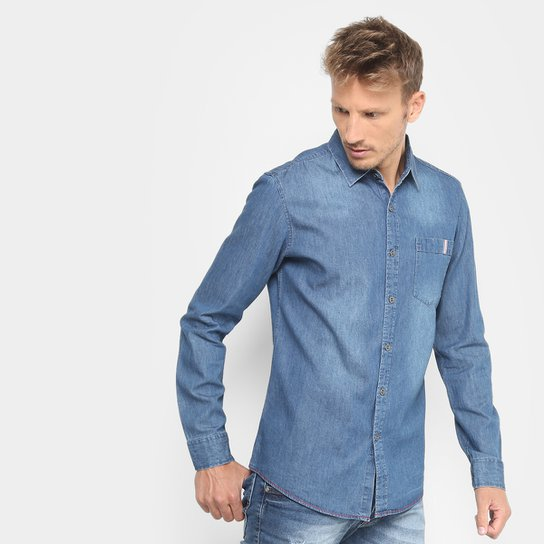 acefc58004 Camisa Jeans Broken Rules Bolso Masculina - Compre Agora