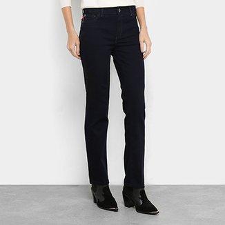 c03cd62bd Calça Jeans Reta Ellus Deep Sea Elastic Feminina