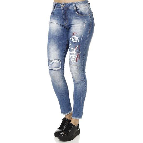 aa54b0868 Calça Jeans Feminina Sawary Azul - Compre Agora | Zattini