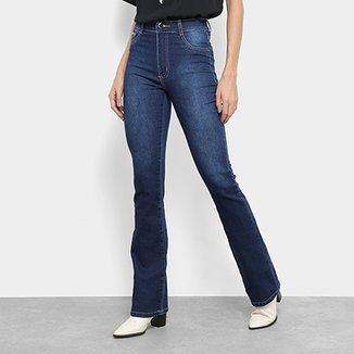 f2723cc20 Calça Jeans Flare Sawary Cintura Alta Feminina