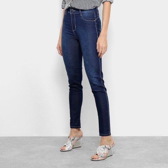 dcce859aa Calça Jeans Cropped Push Up Sawary Feminina - Azul - Compre Agora ...