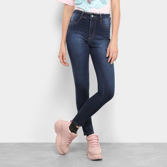 9e769c49e Calça Jeans Skinny Sawary Super Lipo Leguing Cintura Alta Feminina - Azul