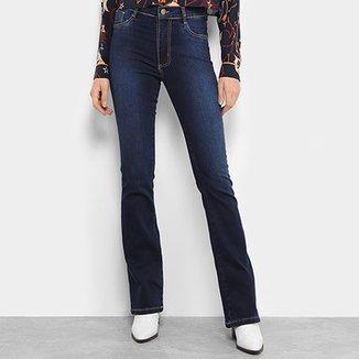 d1dfe71c03 Calça Jeans Flare Sawary Estonada Cintura Média Feminina