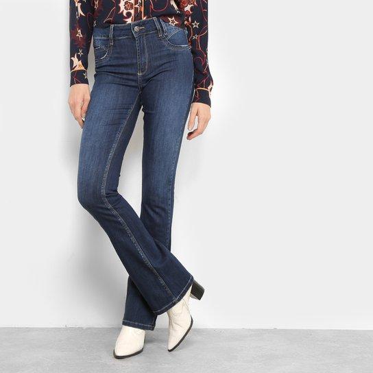 b0c90ba8ea Calça Jeans Flare Sawary Levanta Bum Bum Estonada Cintura Média Feminina -  Azul