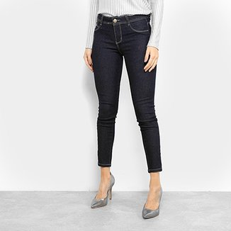 eb69661d7 Calça Jeans Cigarrete Sawary Lisa Cintura Média Feminina