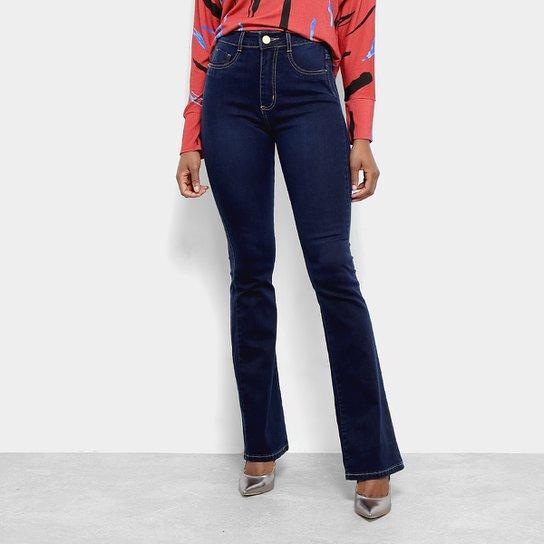 b9fb95fdd Calça Jeans Flare Super Lipo Sawary Feminina - Azul | Zattini