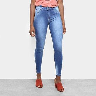 b6e769d88 Calça Jeans Cigarrete Sawary Estonada Cintura Média Push Up Feminina
