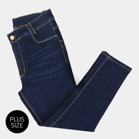 383aa554a Calça Jeans Sawary Skinny Cropped Plus Size Feminina - Azul | Zattini
