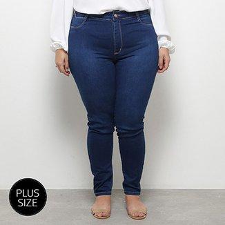 e9c4b1a386 Calça Jeans Skinny Sawary Cigarrete Cintura média Plus Size Feminina