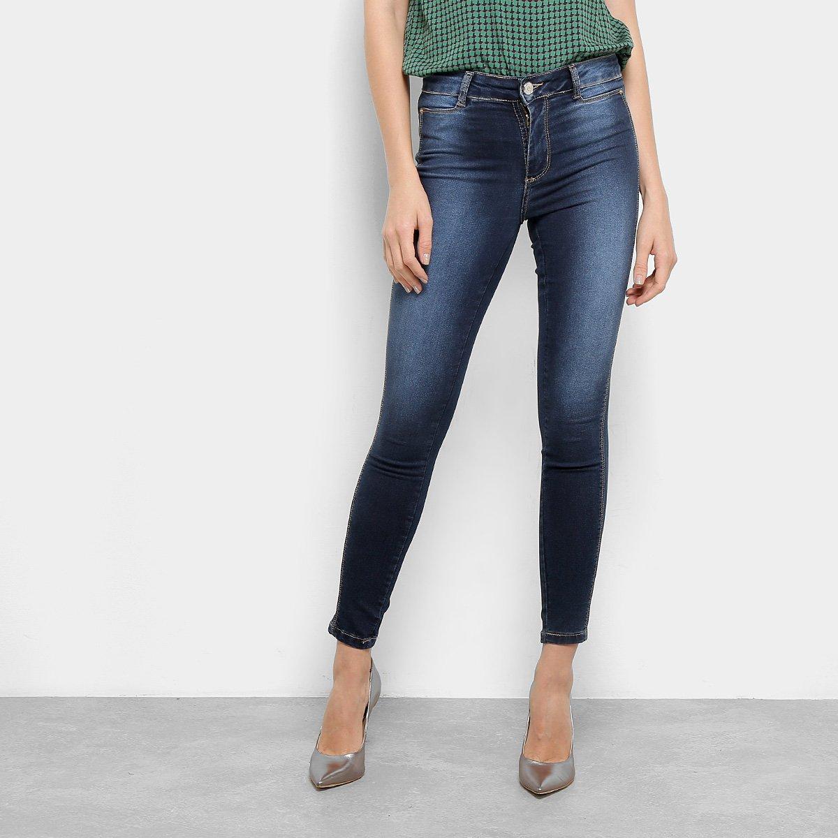 81ac4bd7e Calça Jeans Sawary Heart Cigarrete Feminina