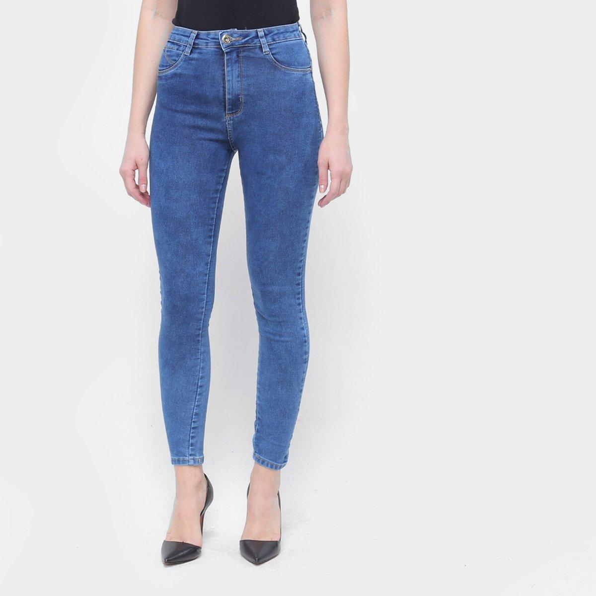 Calça Jeans Sawary Cigarrete Hot Pant Push Up Feminina