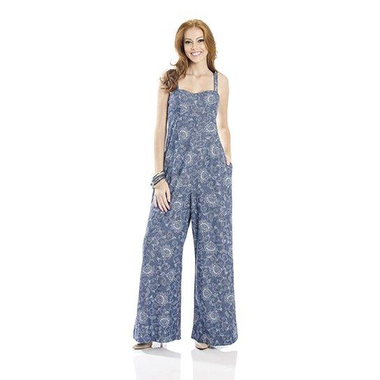 ad03fb52e Macacão Pantalona Estampado Cantão - Compre Agora