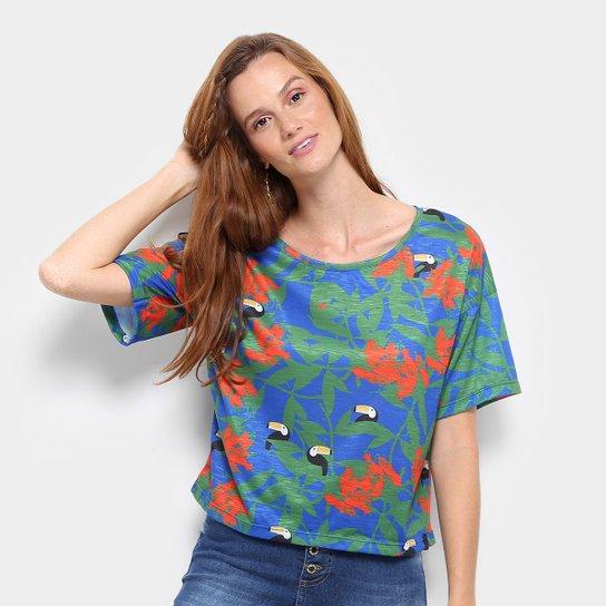 805bcafcd1d Camiseta Cantão Estampada Tucanos Feminina - Compre Agora