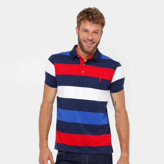 f580d1fcfd Camisa Polo Aleatory Fio Tinto Listrada Masculina - Compre Agora ...