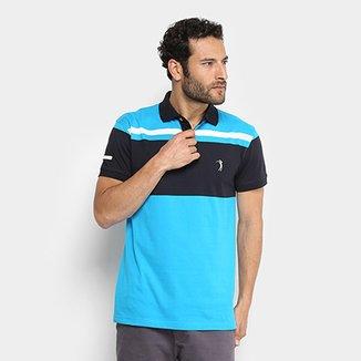 c68764e0ee Camisa Polo Aleatory Listras Masculina