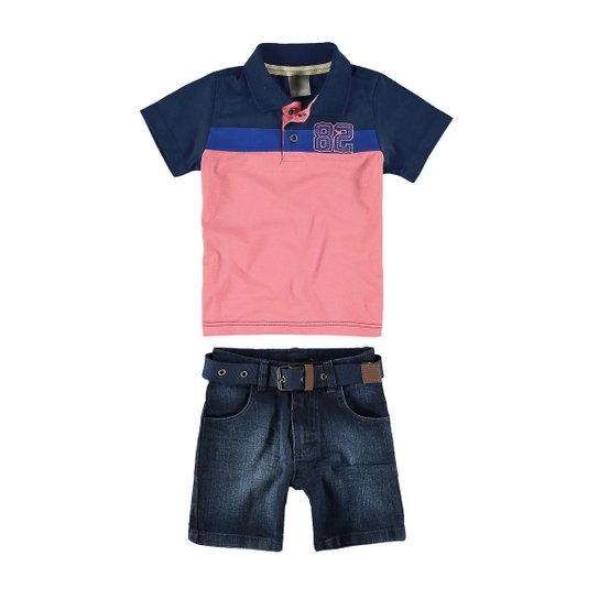Conjunto infantil de verão Carinhoso - Compre Agora   Zattini b4f513dc59