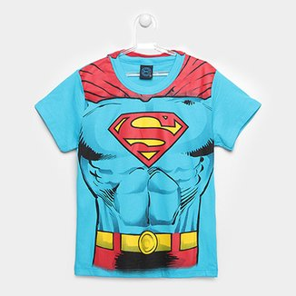 872b4ee14 Camiseta Infantil Kamylus Capa Super Man Masculina