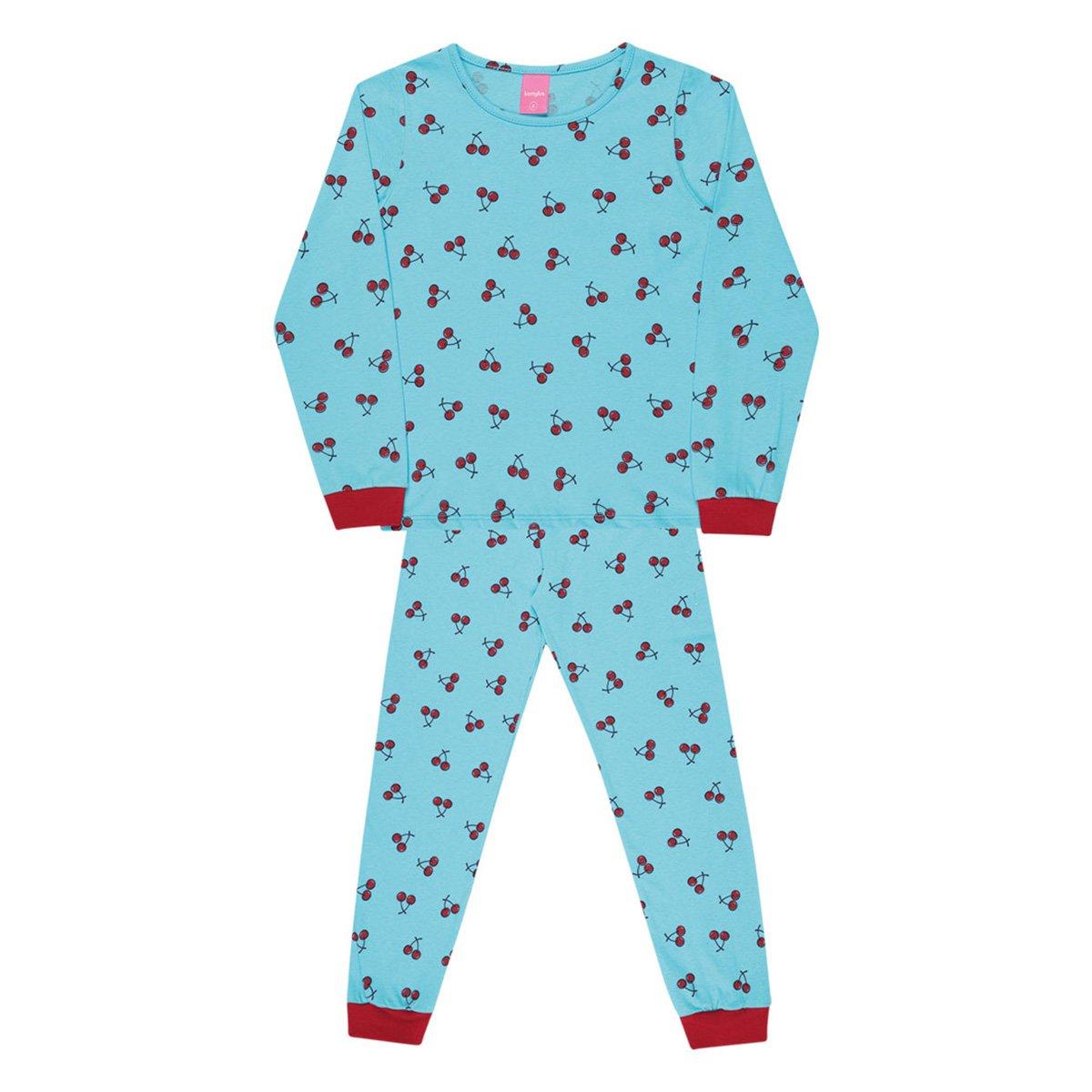 Pijama Infantil Kamylus Cerejas Longo