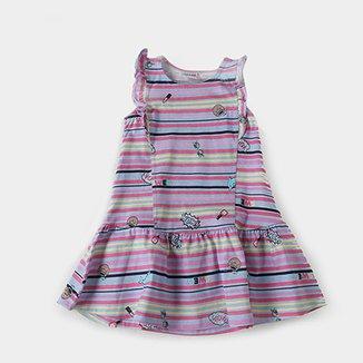 df25fb79d6 Vestido Infantil Fakini Listrado