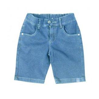 b158c0553 Bermuda Jeans Infantil Carinhoso Masculino