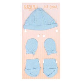 Kit Everly touca Sapato e Luva Suedine Azul c62f64488b8