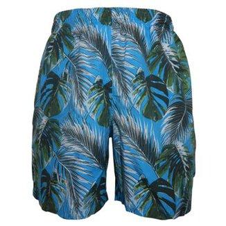 2ad42d8d7 Shorts Alma de Praia com Cordao Sleeves Masculino