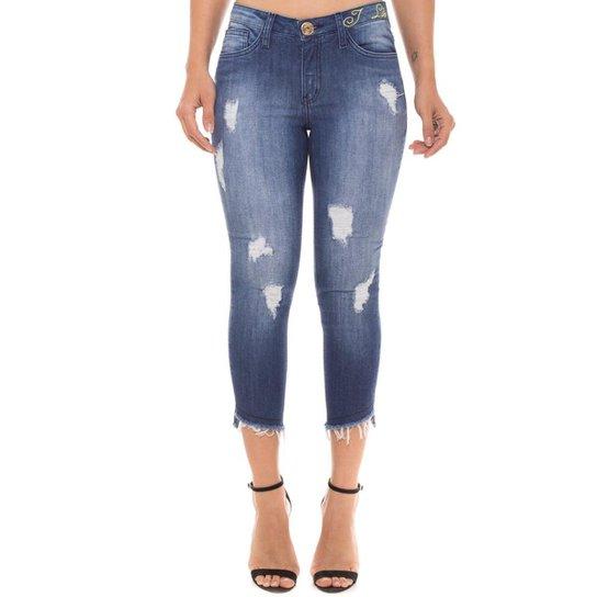 4fe19af750acf1 Calça Cigarrete Jeans Z-32 Skinny Cropped Feminina - Compre Agora ...