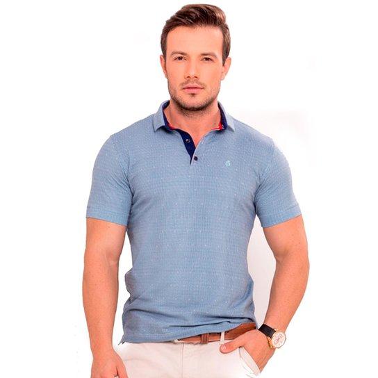48809ec475 Camiseta Polo Azul claro com póa azul marinho e vermelho - Compre ...