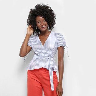 b2af2d35c Blusa Lily Fashion Transpasse Listra Babado Feminina