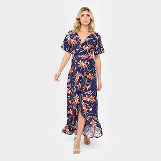 94be7393a3 Vestido Top Moda Longo Floral