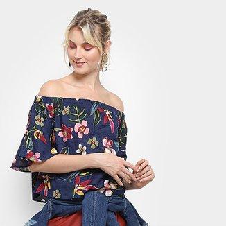 14d5f67953 Blusa Top Modas Ombro A Ombro Floral Feminina