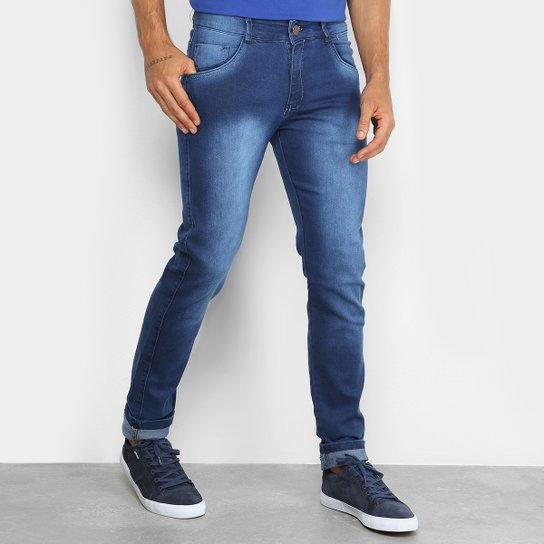 Calça Jeans Skinny Coffee Masculina - Azul - Compre Agora  fff96990250e3